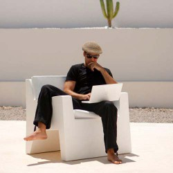 JUT sillón Butaca blanca Vondom