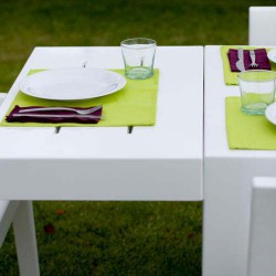 Jut Mesa 280 Table rectangular Vondom white