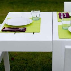 Jut Vondom rettangolare Mesa 280 tavolo bianco