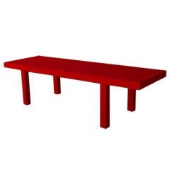 突起メサ 280 テーブル長方形 Vondom 赤