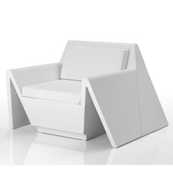 Rest armchair Vondom white Matt