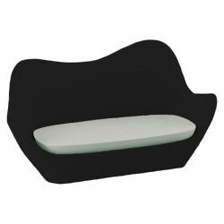 Vondom sofá de sabinas negro