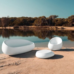 Stone coffee Vondom white Matt Table