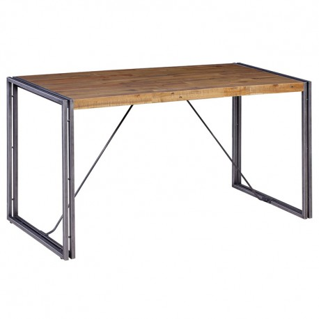 Petite Table Bois et Métal 140 x 60 KosyForm