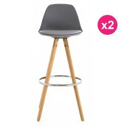 Set of 2 chairs of Bar high grey oak KosyForm base