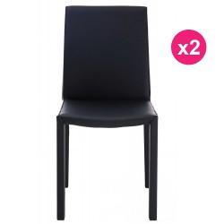 Lot de 2 Chaises Design Noire KosyForm