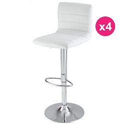 Set of 4 white KosyForm Bar stools