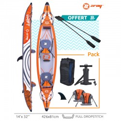 Canoe inflatable Zray KAYAK DRIFT with 2 paddles