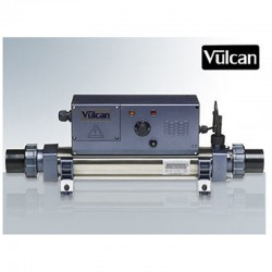 Vulcan heater analog titanium 6kW sort above ground pool and buried