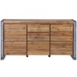 Buffet wood and Metal 3 doors 1 drawer Mega KosyForm
