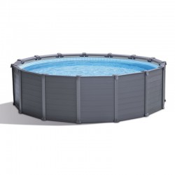 Piscine Tubulaire Intex Graphite 417x109 Ronde
