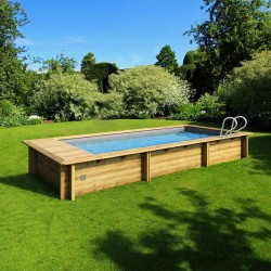 Urban pool Procopi wood 600 x 250 x H 133 automatic cover with safe filtration and heating