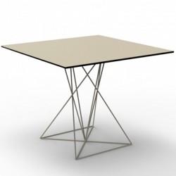 Table Faz Vondom Inox Ecru 100x100xH72