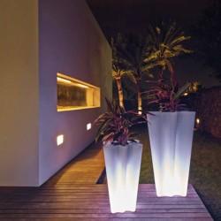 Vondom led の白い高さ70および100の2つの明るい鍋のセットのさようなら