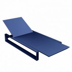 Deckstuhl langer Rahmen Vondom blaue Matte