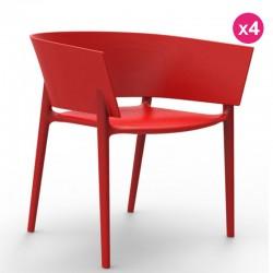 一套4把椅子冯多姆设计非洲红