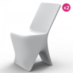Набор из 2 стульев Vondom дизайн Sloo белый