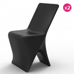 Set of 2 chairs Vondom design Sloo black