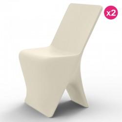 2つの椅子のセット Vondom デザインスロエクリュ