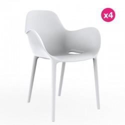 Set of 4 chairs Sabinas Vondom white