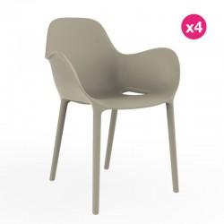 Set of 4 chairs Sabinas Vondom Ecru