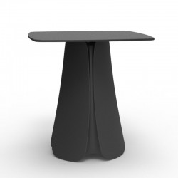 Table Design Pezzettina Vondom Anthracite 90x90xH72
