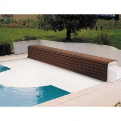 Thermodeck 12x6 Large automatic pool cover with aluminum and wood reel
