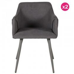 Lot of 2 Lov KosyForm Velvet Grey Chairs