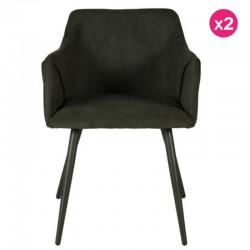 Lot of 2 Green Chairs Fir Velvet Lov KosyForm