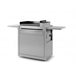 Chariot Forge Adour pour Plancha Premium 60 en Inox Fermé