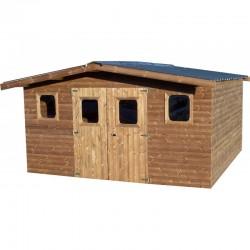 哈布里塔实木花园避难所 12.3 平方米和 42 毫米木板
