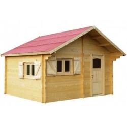 Укрытие сада Theora в habrita твердое древесина 7.33 m2 с крышей Onduline