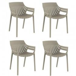 Lot de 4 fauteuils vondon Spritz écru