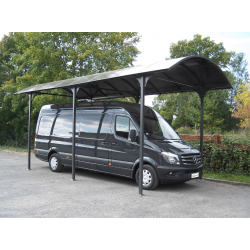 Carport Motorhome L7,60xH3,60m aluminum and polycarbonate Anti-UV Habrita