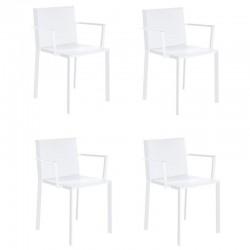 Lot de 4 fauteuils Vondom Quartz gris