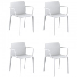 Lot de 4 fauteuils Vondom Kes blanc