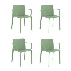 Lot de 4 fauteuils Vondom Kes pickle
