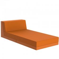 Salon de jardin Vondon lounge Pixel module divan Vondom tissu Silvertex orange
