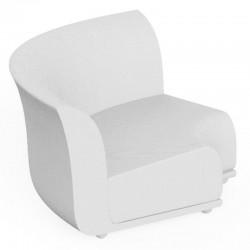 Canapé Sofa Vondom design Suave angle en tissu déperlant blanc Snow 1041