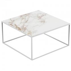 Square coffee table Pixel Vondom Entzo white and white legs 80x80xH25