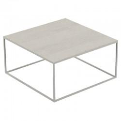 Square coffee table Pixel Vondom Dekton Danae ecru and legs ecru 80x80xH25