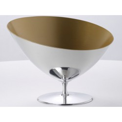 Cauldron in Champagne Symbol polished pewter and Interior gold OA1710